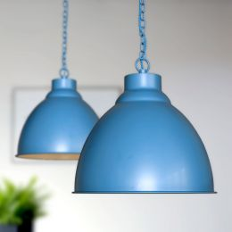 Oxford Vintage Pendant Light Aston Blue