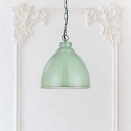 Oxford Vintage Pendant Light Chalk Green