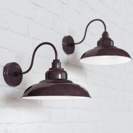 Portland Reclaimed Style Wall Light Mulberry Red