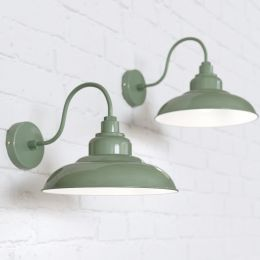 Portland Reclaimed Style Wall Light Chalk Green
