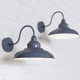Portland Reclaimed Style Wall Light Leaden Grey