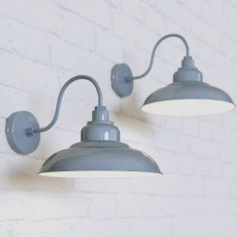 Portland Reclaimed Style Wall Light French Grey