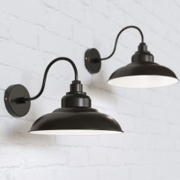 Portland Reclaimed Style Wall Light Matt Black