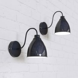 Oxford Vintage Wall Light Squid Ink Blue