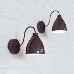 Oxford Vintage Wall Light Mulberry Red