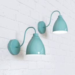 Oxford Vintage Wall Light Duck Egg Blue
