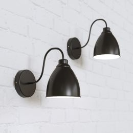 Oxford Vintage Wall Light Matt Black