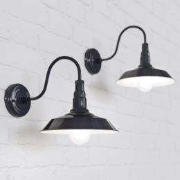 Argyll Industrial Wall Light Squid Ink Blue