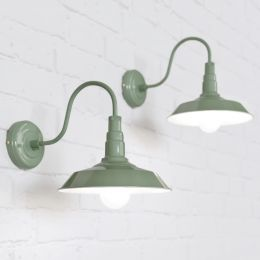 Argyll Industrial Wall Light Chalk Green