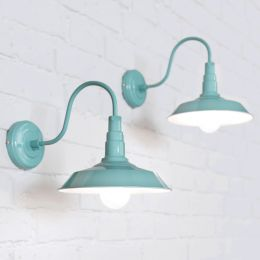 Argyll Industrial Wall Light Duck Egg Blue