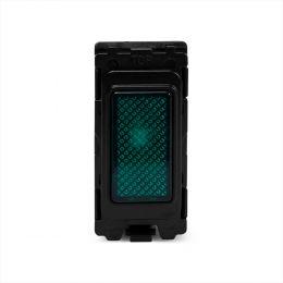 Soho Lighting Brushed Chrome Green Indicator Grid Switch Module