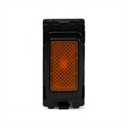 Soho Lighting Brushed Chrome Orange Indicator Grid Switch Module