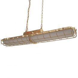 Brass Industrial Large Strip Pendant Light