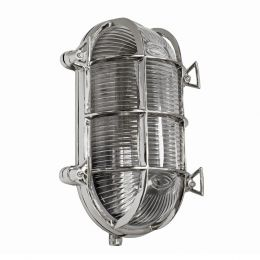 Flaxman Nickel IP66 Bulkhead Outdoor & Bathroom Wall Light