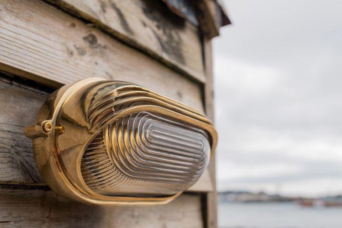 Gold Art Deco Outdoor Light