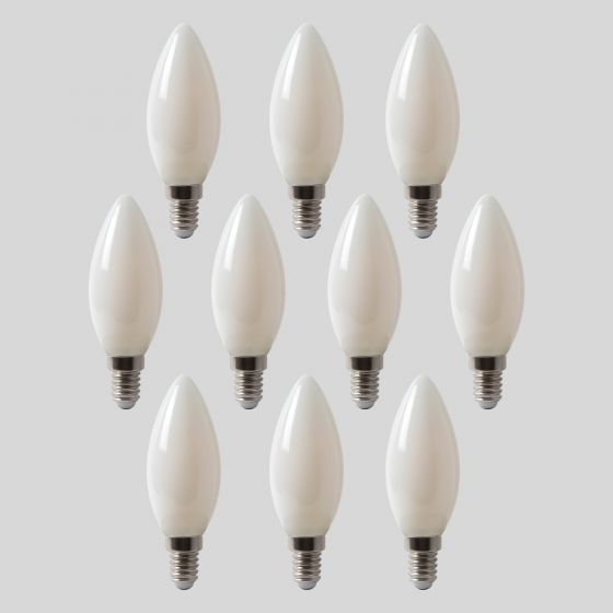 10 Pack - 4w E14 SES Opal Candle LED Bulb 4100K Horizon Daylight Dimmable