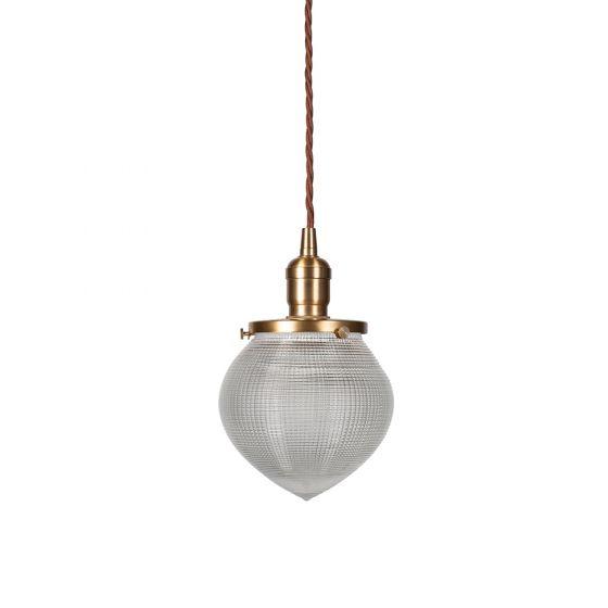 The Hollen Acorn Brass prismatic glass pendant - The Schoolhouse Collection