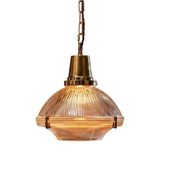hollen brass pendant light
