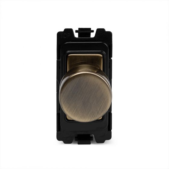 Soho Lighting Antique Brass 400W (150W LED) 2 Way Intelligent Trailing Edge Dimmer - Grid Module
