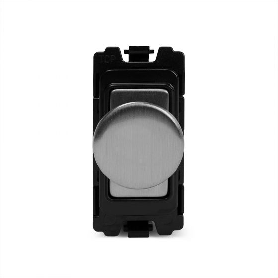 The Lombard Collection Brushed Chrome 400W/150W LED 2 Way Intel RM-Grid Trailing Edge Dimmer Mod
