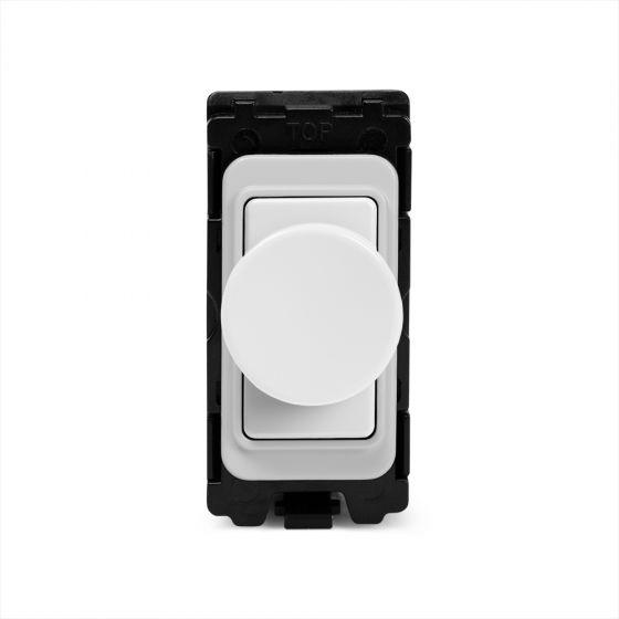 Soho Lighting White Metal 400W (150W LED) 2 Way Intelligent Trailing Edge Dimmer - Grid Module