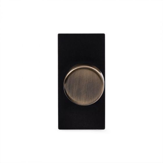 Soho Lighting Antique Brass 6A Dummy Dimmer Switch - Plate Module