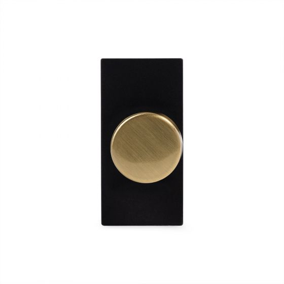 Soho Lighting Brushed Brass 6A Dummy Dimmer Switch - Plate Module