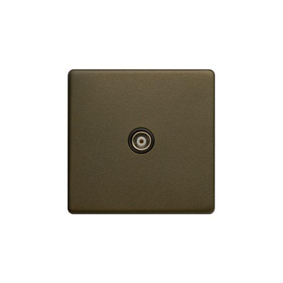 Bronze TV Socket