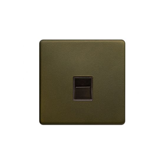 The Eton Collection Bronze 1 Gang Tel Master Socket,BT Screwless