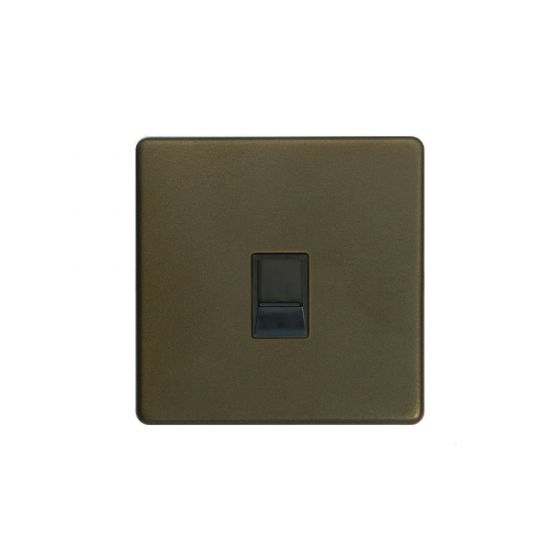 The Eton Collection Bronze 1 Gang Data Socket RJ45 Cat5/6 Screwless