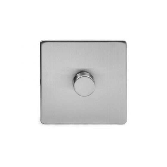The Lombard Collection Brushed Chrome Luxury 1 Gang 2 Way Trailing Edge Dimmer