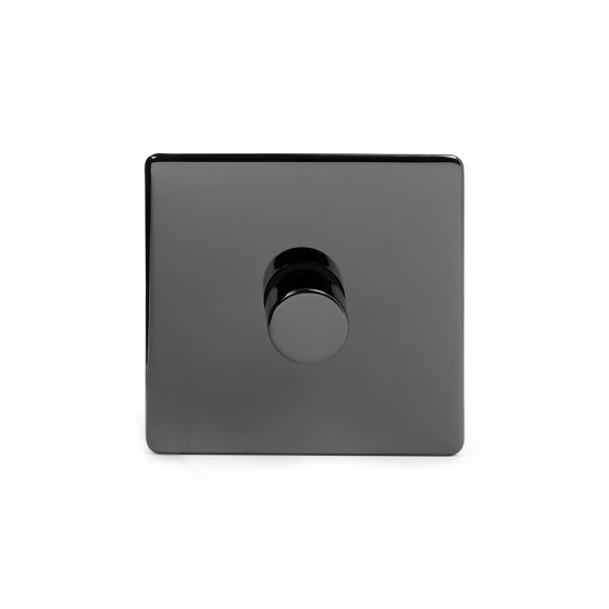 The Connaught Collection Black Nickel 1 Gang 2 Way Trailing Edge Dimmer 100W LED (250w Halogen/Incandescent)