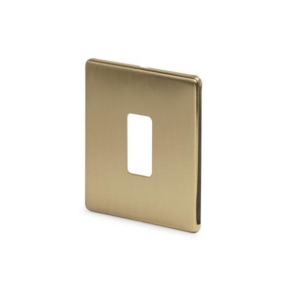 Soho-Lighting-Brushed-Brass-1-Gang-Grid-Plate-