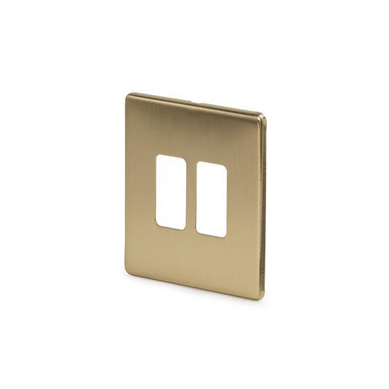 Soho-Lighting-Brushed-Brass-2-Gang-Grid-Plate