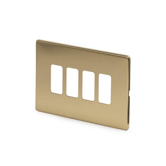 Soho-Lighting-Brushed-Brass-4-Gang-Grid-Plate