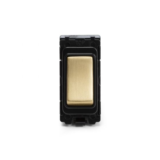 Soho-Lighting-Brushed-Brass-20AX-Double-Pole-Grid-Switch