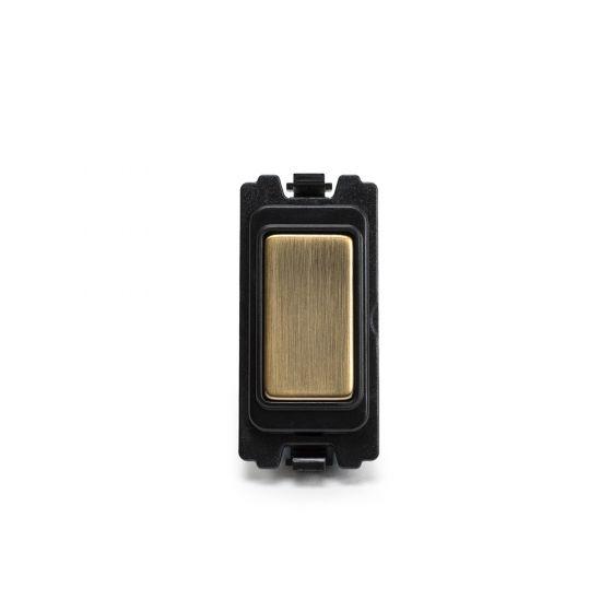 Soho-Lighting-Antique-Brass-Blank-Grid-Module
