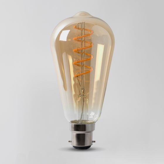 Vintage Style Edison Clear LED GLS Bulb Spiral Element