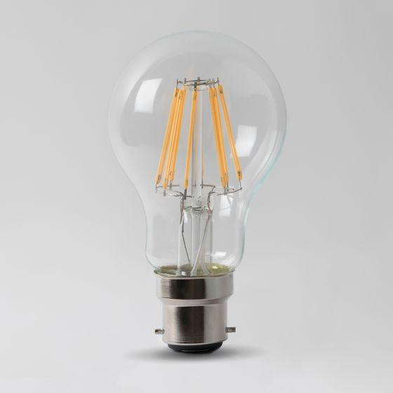 8w B22 3000K Transparent Dimmable