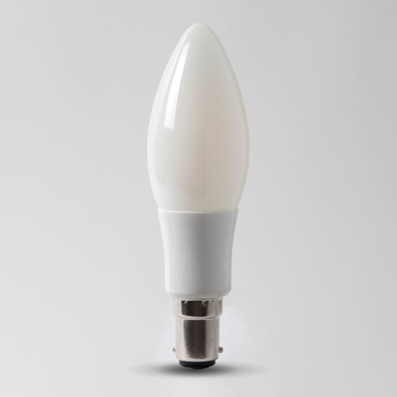 4w B15 4100K Opal Dimmable with white plastic