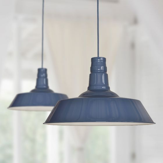 Large Argyll Industrial Pendant Light Leaden Grey Slate - Soho Lighting