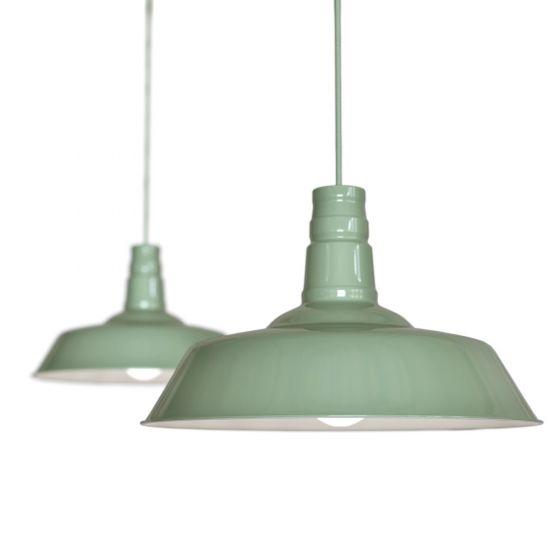 Mint Green Large Pendant Lights