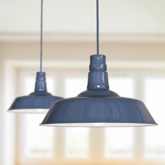 Argyll Industrial Pendant Light Leaden Grey Slate - Soho Lighting