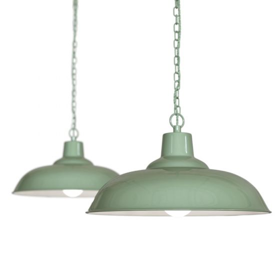Mint Green Industrial Pendant Lights