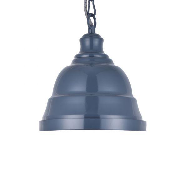 Ganton Small Vintage Pendant Light Leaden Grey Slate - Soho Lighting