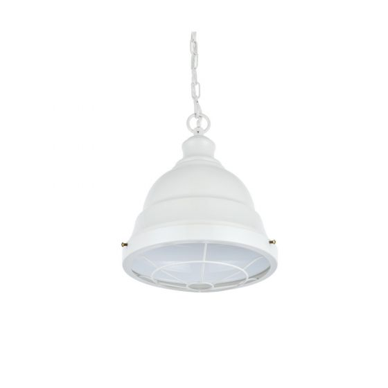 Ganton Vintage Cage Pendant Light Clay White