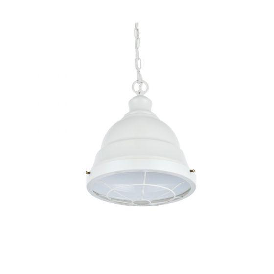 Ganton Vintage Cage Pendant Light Clay White