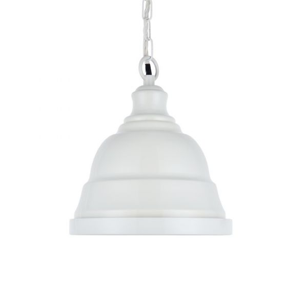 Ganton Small Vintage Pendant Light Clay White Cream - Soho Lighting