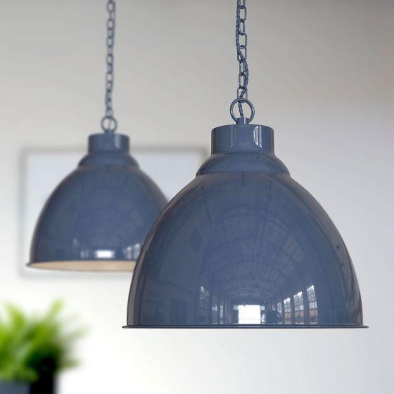 Oxford Vintage Pendant Light Leaden Grey Slate - Soho Lighting