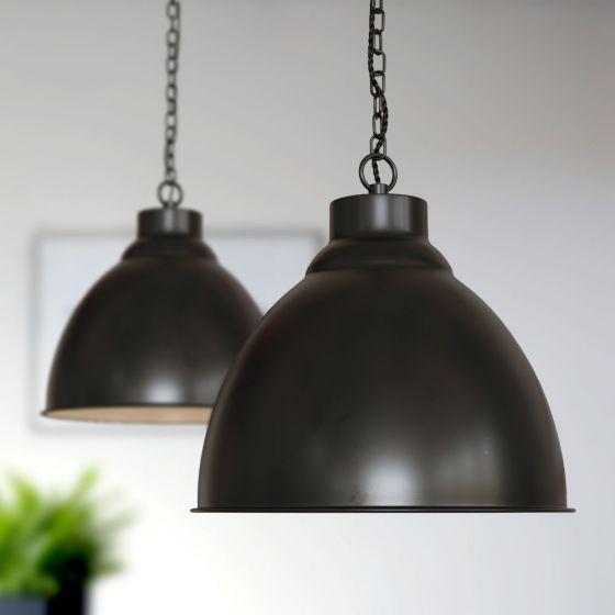 Oxford Vintage Pendant Light Matt Black - Soho Lighting